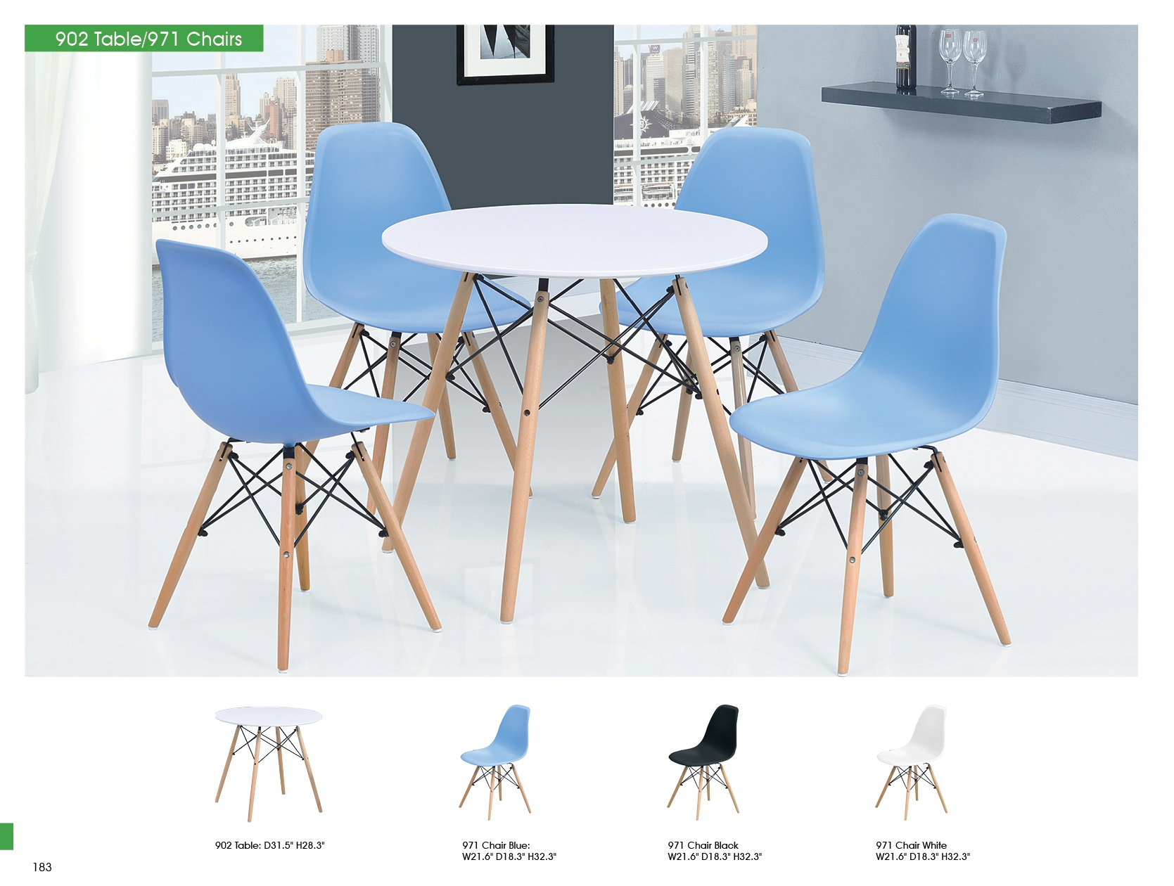 902 table and 971 chairs modern casual dining sets for Casual dining table and chairs